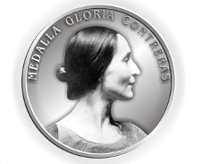 Medalla Gloria Contreras, otorgada por la Universidad Nacional Autonoma de México al maestro Carlos Lopez. Taller Coreografico de la UNAM, septiembre 2015