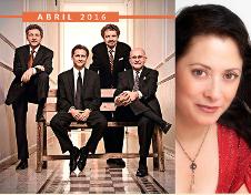 Cuarteto Latinoamericano acompanado por la soprano Lourdes Ambriz, festeja la musica de Alberto Ginastera. Sala Manuel M. Ponce del Palacio de Bellas Artes, abril 2016