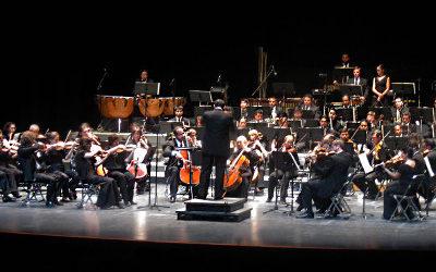 Orquesta Sinfonica de San Luis Potosi, dirigida por Jose Miramontes Zapata, se presento en el Palacio de Bellas Artes, julio 2016