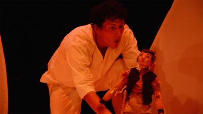 La Sociedad de las Liebres presenta Los gemelos en busca del Sol con la direccion de Gerardo Daniel Martinez. Casa del Teatro, enero 2017