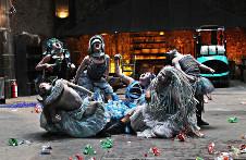 Poc Impulse, presenta La fiesta de los barbaros, obra de Jaime Camarena, en el Cirko De Mente, abril 2017