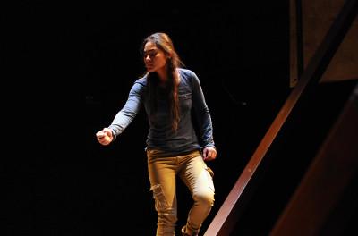 Las Lagrimas de Edipo, direccion de Hugo Arrevillaga, se presenta en el Festival del Centro Historico. Teatro de la Ciudad Esperanza Iris, abril 2017