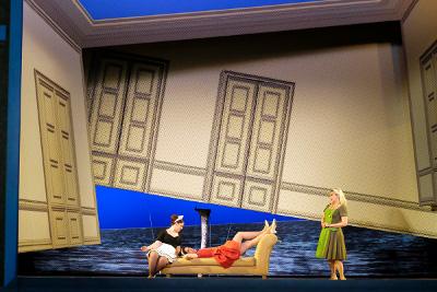 Cosi fan tutte, de Mozart con la direccion de escena de Mauricio Garcia Lozano y concertadora de Srba Dinic, en el Palacio de Bellas Artes, mayo 2017