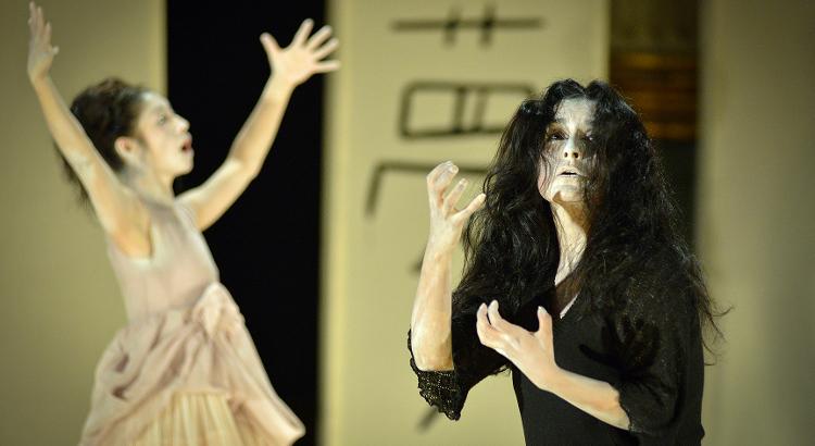 Laboratorio Escenico Danza Teatro Ritual presenta Espejo negro, coreografia deTadashi Endo. Foto Gabriel Morales, mayo 2017