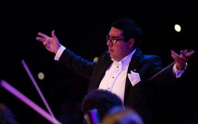 Filarmonica de las Artes, dirigida por Jose Luis Bustillos se presenta en el Auditorio Fra Angelico, julio 2017 de la UNAM
