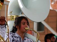Banda Filarmonica de Santa Maria Tlahuitoltepec se presenta en el Teatro de la Ciudad, septiembre 2017