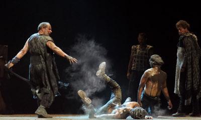 Compania Nacional de Teatro presenta Numancia, obra de Ignacio Garcia, dirigida por Juan Carrillo. Teatro Julio Castillo, diciembre 2017, diciembre 2017