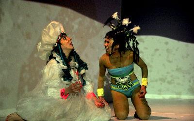 Salimos del mar y sonamos el mundo, dirigida por Nora Manneck, se presenta en el Teatro Helenico, enero 2018. Foto Jorge Vargas