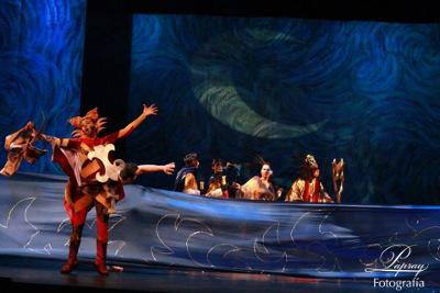 El gato con botas, opera de Xavier Montsalvatge en la vision escenica de Cesar Pina, se presenta en el Teatro de la Ciudad, febrero 2018