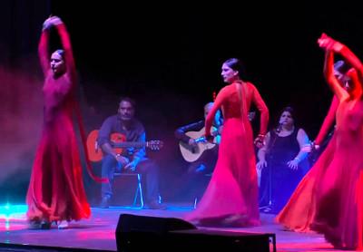 Curro de Candela presento el espectaculo Afrogitano, mas que flamenco, en el Teatro de la Ciudad. Festival Centro Historico, marzo 2018