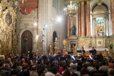 Orquesta Filarmonica de la Ciudad de Mexico, dirigida por Scott Yoo  se presento en el Templo de Santo Domingo. Festival del Centro Historico, marzo 2018