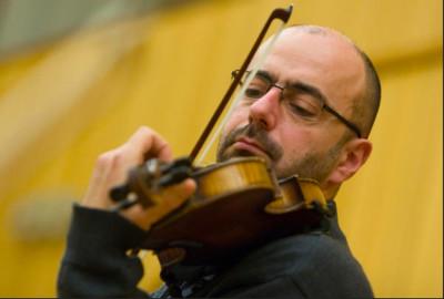 Jaroslaw Zolnierczyk, solista invitado de la Orquesta de Camara Amadeus de la Radio Polaca, que dirigida por Agnieszka Duczmal, se presenta en el Palacio de Bellas Artes, mayo 2018