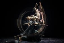 Nohbords presenta 1Q90, obra de Diego Mur, en el Salon de Danza del Centro Cultural Universitario, marzo 2018