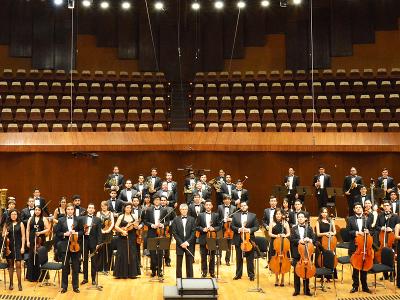 Orquesta Universitaria Eduardo Mata, dirigida por Gustavo Rivero Weber, se presento en la inauguracion del Festival del Centro Historico, marzo 2018