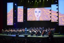 Orquesta Sinfonica de Mineria presenta Alegro Sinfonico, un programa dirigido por Raul Delgado en el Auditorio Nacional, septiembre 2018. Foto Toni Francois