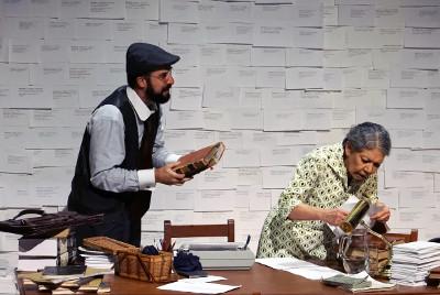 Compania Nacional de Teatro presenta El diccionario, dirigida por Enrique Singer. Sala Hector Mendoza, enero 2019. Foto Sergio Carreon Ireta