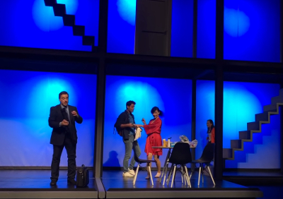 Casi normales, obra de Tom Kitt y Brian Yorkey, con direccion de escena de Diego del Rio, se presenta en el Teatro Aldama, abril 2019