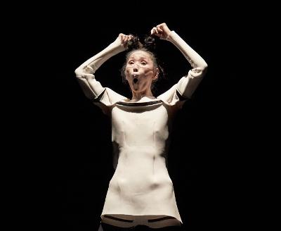Minako Seki se presento en la tercera edicion de Cuerpos en Revuelta. Teatro de la Danza, mayo 2019. Foto Emmanuel Adam.