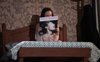 Maria Penella actua en Pequena voz, dirigida por Alonso Iniguez. Teatro Milan, mayo 2019