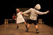 Teatro sin Paredes presaenta Last Man Standing, Simulacro Boxistico para Actores. Foro La Gruta, junio 2019. Foto Gabriel Morales.