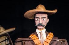Sabes quien es Emiliano, obra de Marionetas de la Esquina, se presenta en la Casa de los Titeres, junio 2019