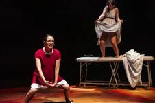 La mujer nina no despierta, obra de Susana Frank, se presenta en Los Talleres, julio 2019. Foto Jose Jorge Carreon