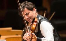 Philippe Quint, violin, solista invitado en la Temporada Verano 2019 de la Orquesta Sinfonica de Mineria. Sala Nezhualcoyotl, julio 2019