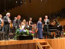 Lilya Zilberstein, solista invitada de la Orquesta Sinfonica de Mineria dirigida por Carlos Miguel Prieto. Sala Nezahualcoyotl, agosto 2019
