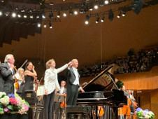 Anne Marie McDermott, se presento con la Orquesta Sinfonica de Mineria dirigida por Carlos Miguel Prieto. Sala Nezahualcoyotl, agosto 2019