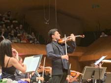 Philippe Quint en concierto con la Orquesta Sinfonica de Mineria. Sala Nezahualcoyotl, agosto 2019