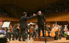 Philippe Quint en concierto con la Orquesta Sinfonica de Mineria dirigida por Carlos Miguel Prieto. Sala Nezahualcoyotl, agosto 2019