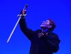 Julieta Egurrola actua en La tragica historia de Hamlet, de la Compania Nacional de Teatro, con direccion de Jose Caballero. Teatro Julio Castillo, agosto 2019. Foto Sergio Carreon Ireta