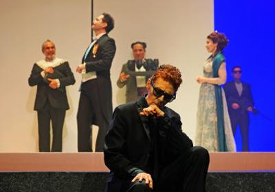 La tragica historia de Hamlet, produccion de la Compania Nacional de Teatro y direccion de Jose Caballero. Teatro Julio Castillo, septiembre 2019. Foto Sergio Carreon Ireta
