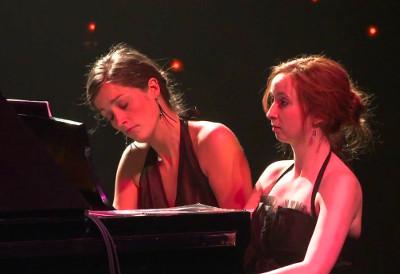 Duo Fortin Poirier se presenta en el Festival Internacional de Piano En Blanco y Negro, Cenart, septiembre 2019.