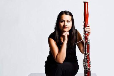 Rocio Yllescas, fagot, solista invitada de la Orquesta de Camara de Bellas Artes, octubre 2019. Foto Alisagarin