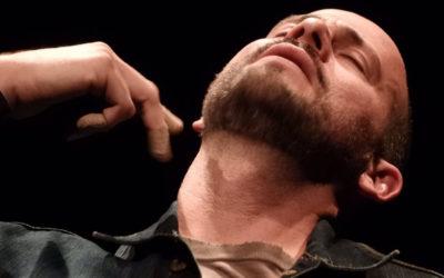 Antón Araiza, actúa en Un acto de comunión. Foro Bellescene, octubre 2019. Foto Javier Perez Maya
