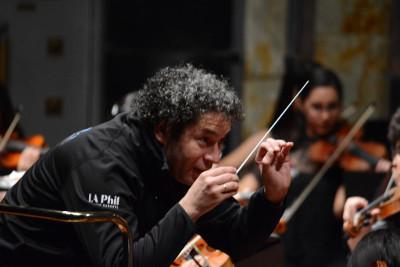 Gustavo Dudamel, ensayo con la Orquesta Juvenil de Los Angeles en Encuentros 2019.