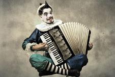 El Pagliacho, el gracioso de la calle del Relox se presenta en el Teatro Julio Castillo, noviembre 2019. Foto foto Abner Oropeza