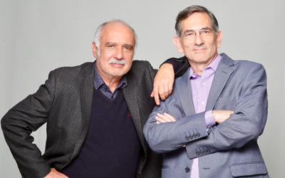 Alberto Lomnitz y Enrique Singer actuan en Un judio comun y corriente. Teatro Lucerna, noviembre 2019