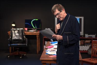 Alberto Lomnitz actua en Un judio comun y corriente. Teatro Lucerna, noviembre 2019