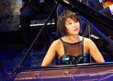 Yuja Wang, piano, se presenta con la Filarmonica de Los Angeles en su presentacion en el Palacio de Bellas Artes Nacional, noviembre 2019