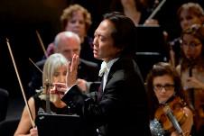 Scoot Yoo dirige a la Orquesta Filarmonica de la Ciudad. Sala Silvestre Revueltas, enero 2019