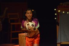 Colectivo Escenico El Arce presenta Yaya quiere jugar futbol, direccion de Isael Almanza. La Titeria, enero 2020