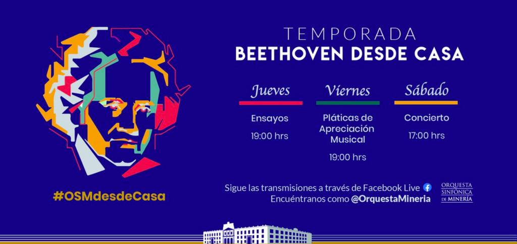 Orquesta Sinfonica de Mineria, Beethoven desde Casa, marzo 2020
